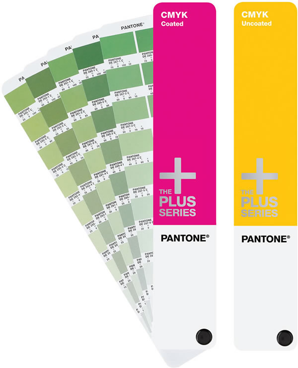 Pantone CMYK Coated Uncoated Process Guide Book Set